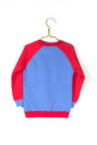 Louie sweater in leuchtendem blau und rot