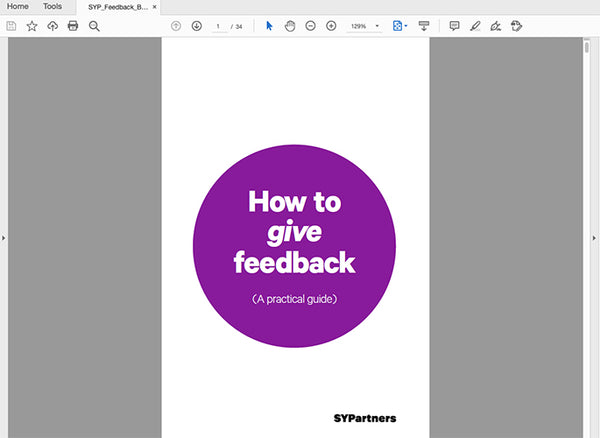A Practical Guide to Feedback PDF—digital download