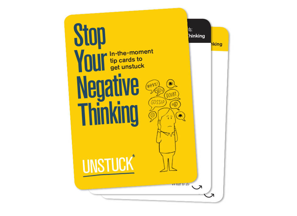 Stop Your Negative Thinking - Tip Cards