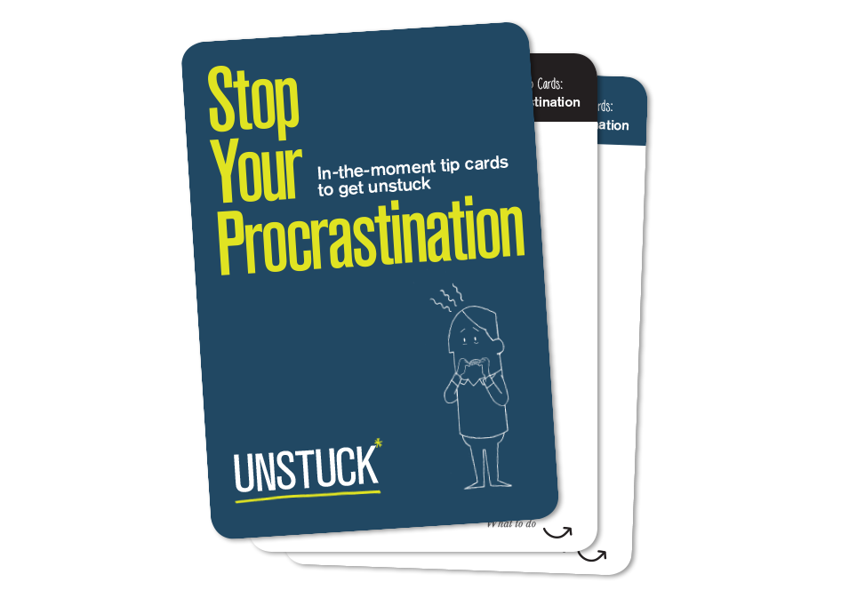 Stop Your Procrastination Tip Cards