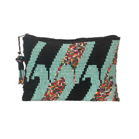Atitlan Handmade Ceramic Beaded Clutch