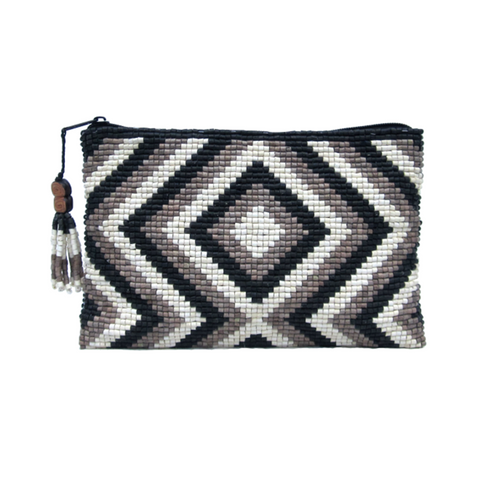 Lotes Handmade Ceramic Beaded Clutch