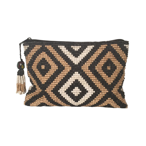Obrajuelo Handmade Ceramic Beaded Clutch