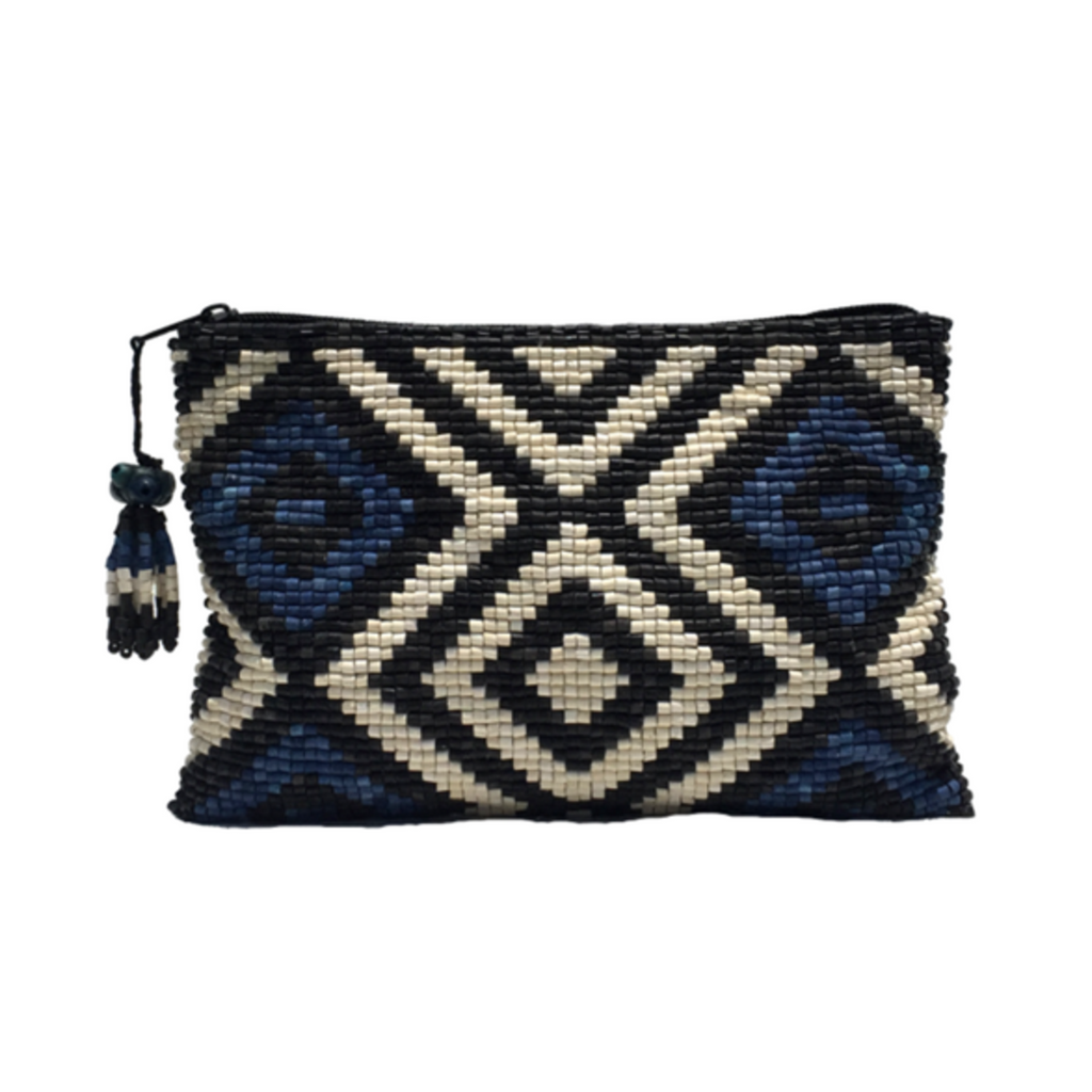 Santa Maria Handmade Ceramic Beaded Clutch
