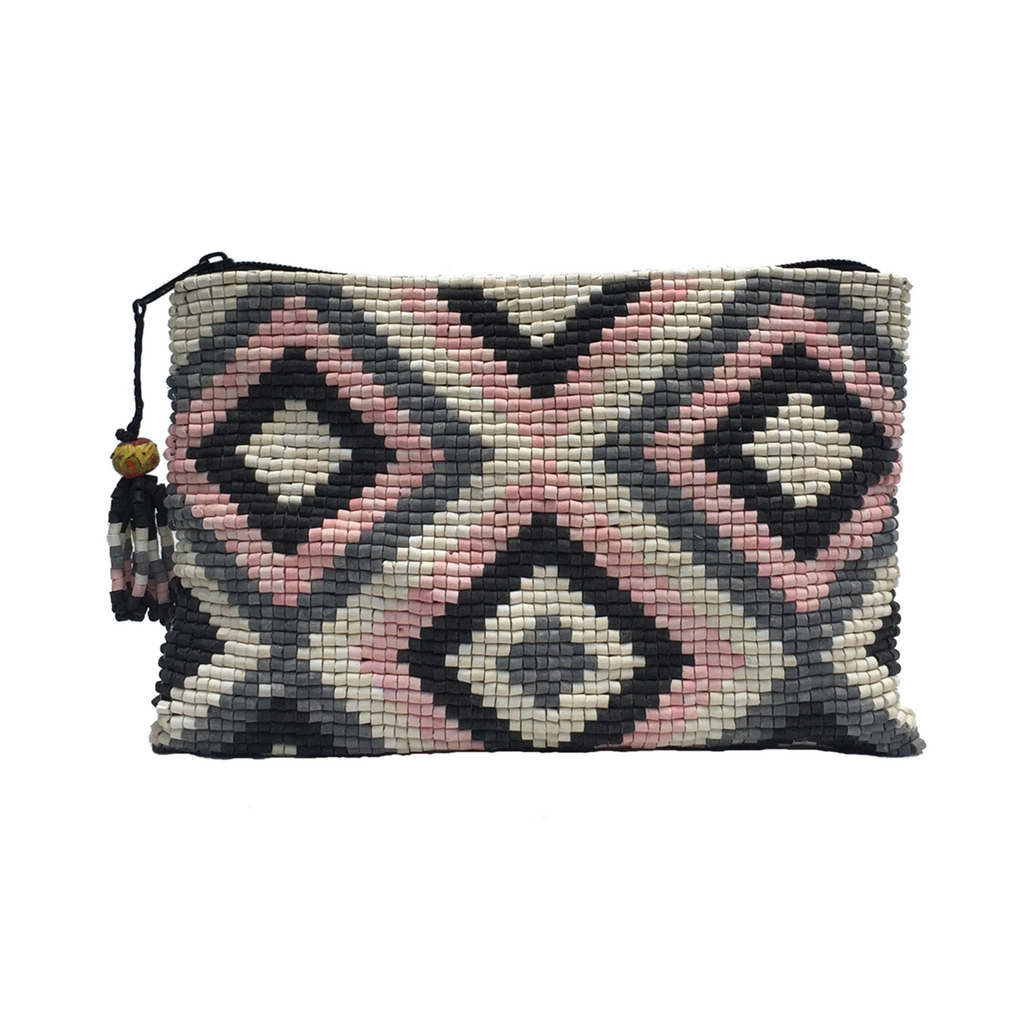 Totonicapán Handmade Ceramic Beaded Clutch