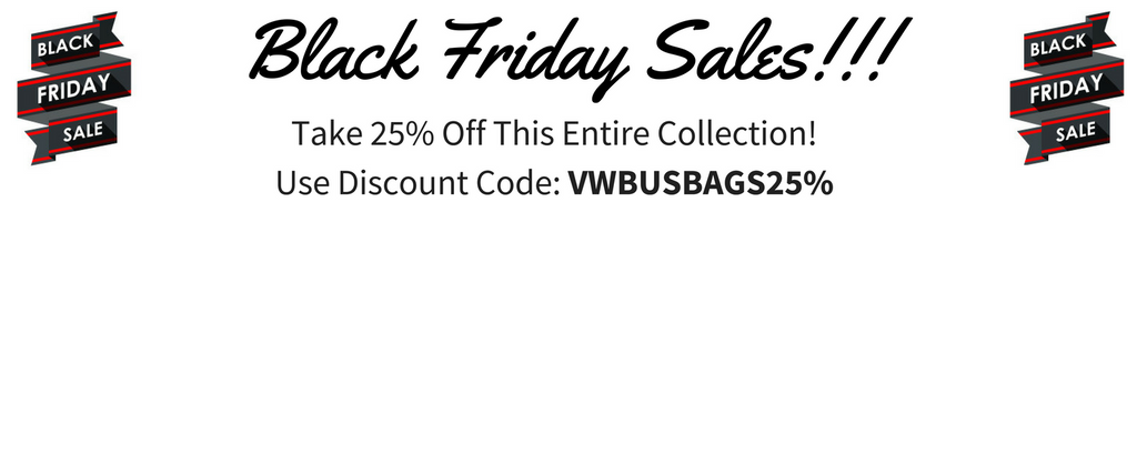Black Friday 25% Off VW Bus Shoulders