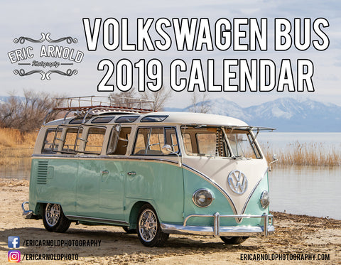 2019 Volkswagen Bus Calendar by Eric Arnold Photography