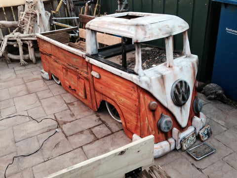 VW Bus Driftwood Storage Bench-Custom - Cool VW Stuff  - 1
