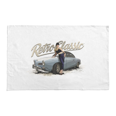 RetroClassic Tea Towel - Karmann Ghia Coupe & Bethany Birks - Cool VW Stuff  - 1