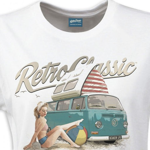 RetroClassic Mens Beach life Camper Van and Heather Valentine - Cool VW Stuff  - 1