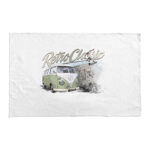 RetroClassic Tea Towel - Skate Boarder & Bus Camper Van - Cool VW Stuff  - 1