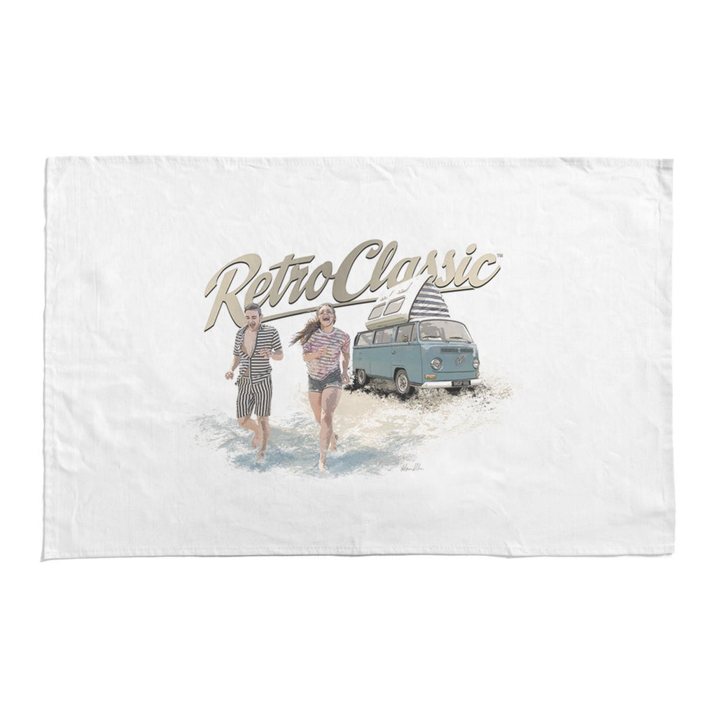 RetroClassic Tea Towel - Fun In The Sun Bay Window Camper - Cool VW Stuff  - 1