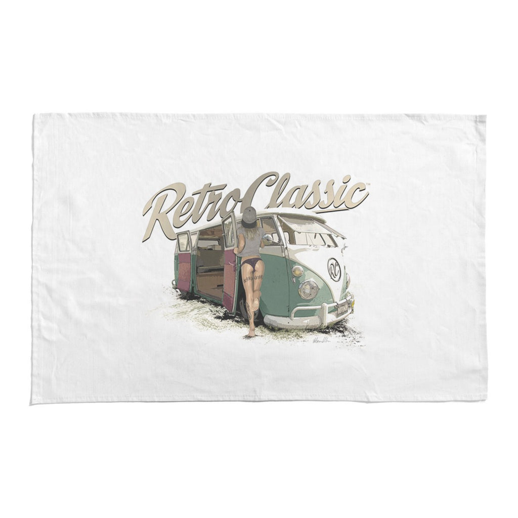 RetroClassic Tea Towel - Camper Talk NOTONIX & Split Screen Camper Van - Cool VW Stuff  - 1