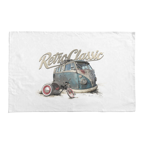 RetroClassic Tea Towel - Luke's Rusty Rat Splitty & Drift Trike - Cool VW Stuff  - 1