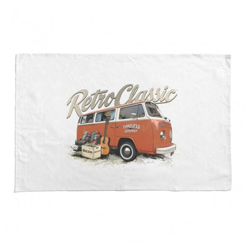 RetroClassic Tea Towel - Timeless Retro Bay Window & Camping Gear - Cool VW Stuff  - 1