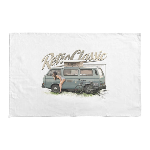 RetroClassic Tea Towel - 'Looking Good' Lauren & T3 Camper - Cool VW Stuff  - 1