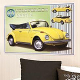 VW Beetle Cabriolet Metal Wall Sign - Cool VW Stuff  - 2
