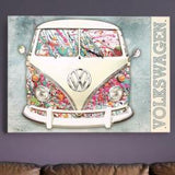 VW Camper Paint Splat Metal Wall Sign - Cool VW Stuff  - 2