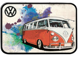 VW Camper Grunge Red Keepsake Tin - Cool VW Stuff  - 1