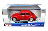 Volkswagen Beetle Diecast Vehicle 1:24 Scale-Red - Cool VW Stuff  - 4