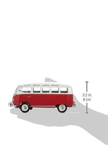 Volkswagen 21 Window Samba Van 1/25 Red - Maisto Diecast Model - Cool VW Stuff  - 2