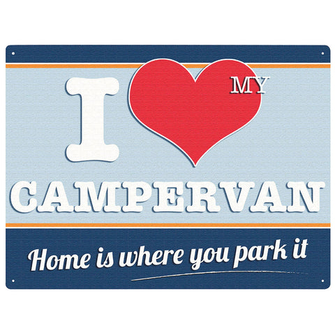 I LOVE MY CAMPERVAN WALL SIGN