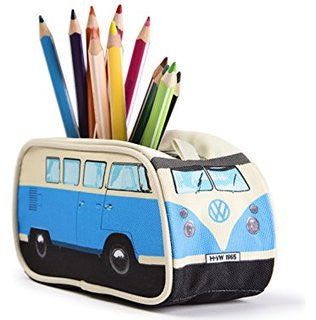 Volkswagen Bus Pencil Case - Blue