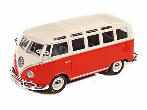 Volkswagen 21 Window Samba Van 1/25 Red - Maisto Diecast Model - Cool VW Stuff  - 3