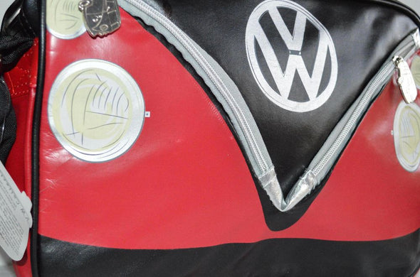 Camper Deluxe Shoulder Bag-Red & Black - Cool VW Stuff  - 5