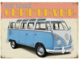 VW Retro Camper Metal Wall Sign - Cool VW Stuff  - 1