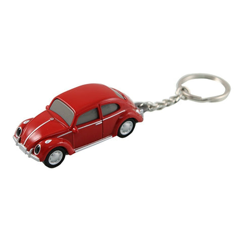 Volkswagen VW Classic Beetle Keychain Keylight Flashlight - Red - Cool VW Stuff  - 1