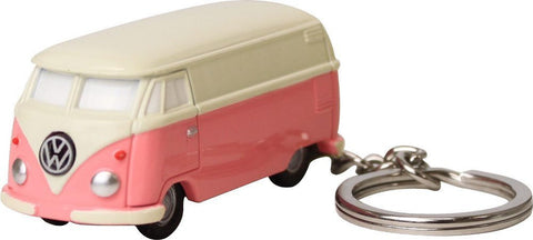 Volkswagen Type II Bus Key Chain Light-Pink and Ivory