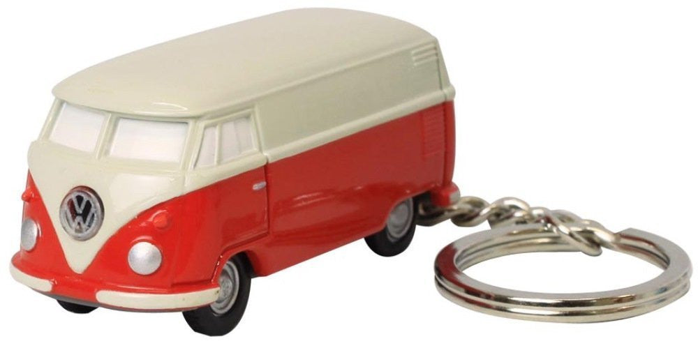 Volkswagen Type II Bus Key Chain Light-Red and Ivory