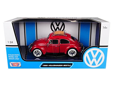 1966 Volkswagen Classic Beetle Diecast Model Car-Red