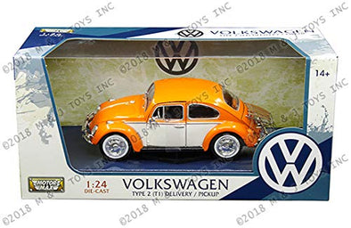 1966 Volkswagen Classic Beetle Diecast Model Car-Orange & White