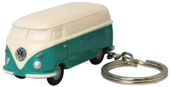 Volkswagen Type II Bus Key Chain Light-Green and Ivory