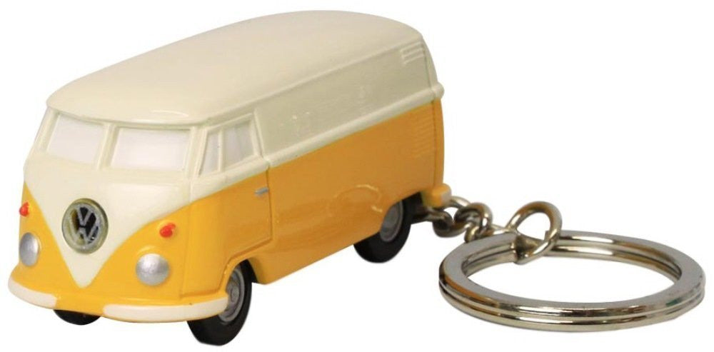 Volkswagen Type II Bus Key Chain Light-Yellow and Ivory