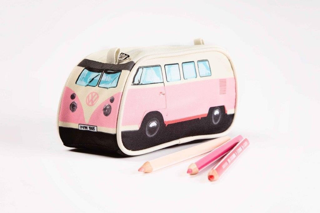 Volkswagen Bus Pencil Case - Pink - Cool VW Stuff  - 1