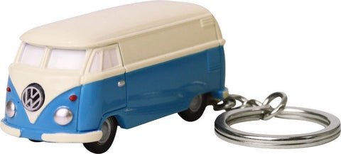 Volkswagen Type II Bus Key Chain Light-Blue and Ivory
