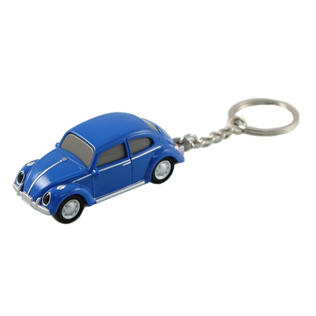 Volkswagen VW Classic Beetle Keychain Keylight Flashlight - Blue - Cool VW Stuff  - 1
