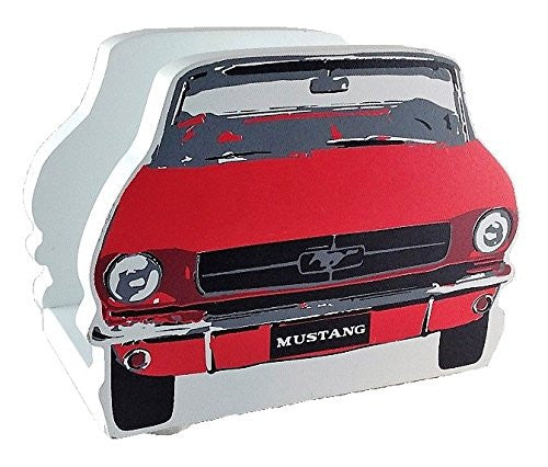 Vintage Ford Mustang Napkin Holder - Red and White