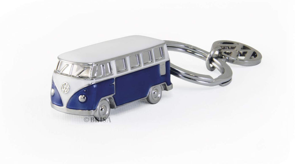 VW T1 Bus 3D Model Key Ring - Blue