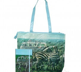 Zebra Bus Tote Bag and Notebook Gift Set - Cool VW Stuff  - 1