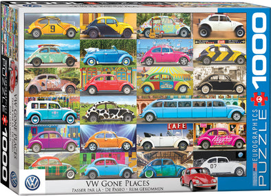 Volksawgen 1000-Piece Puzzle - VW Gone Places