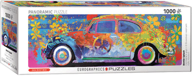 Volkswagen 1000 Piece Panoramic Puzzle - Beetle Splash