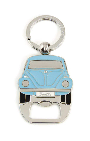 VW Beetle Keyring with Integrated Bottle Opener - Blue