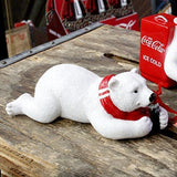Coca Cola Lying On Front Polar Bear Figurine