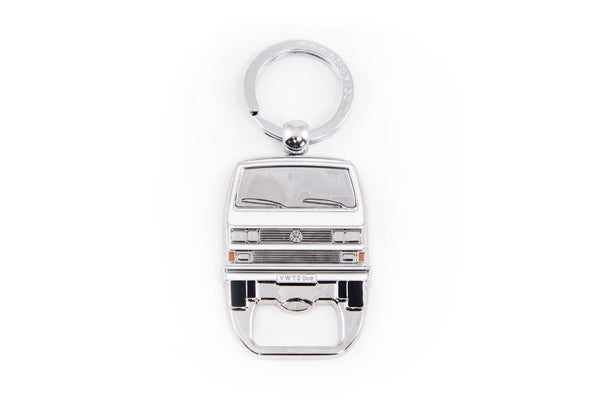 Volkswagen Vanagon T3 Bus Key Ring & Bottle Opener - White