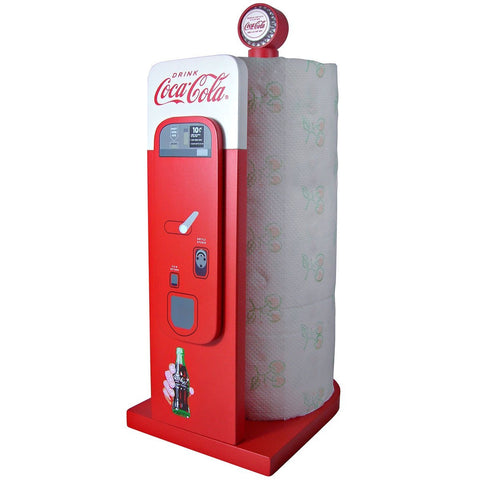 Coca-Cola Vending Machine Kitchen Collectible Paper Towel Holder