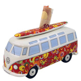 VW Bus Money Bank with Surfboard-Spirals
